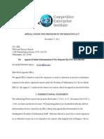 CEI Appeal EPA Richard Windsor FOIA