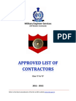 Approved List of Contractors-CEWC
