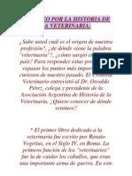 Un Paseo Por La Historia de La Veterinaria
