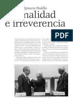 Vicente Leñero - Respuesta a Ignacio Padilla_Formalidad e irreverencia