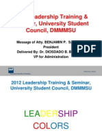 Dmmmsu Usc Leadedrship Training
