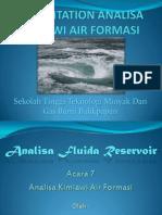 Kimia Air Formasi