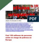 Noticias Uruguayas sábado 8 de diciembre del 2012