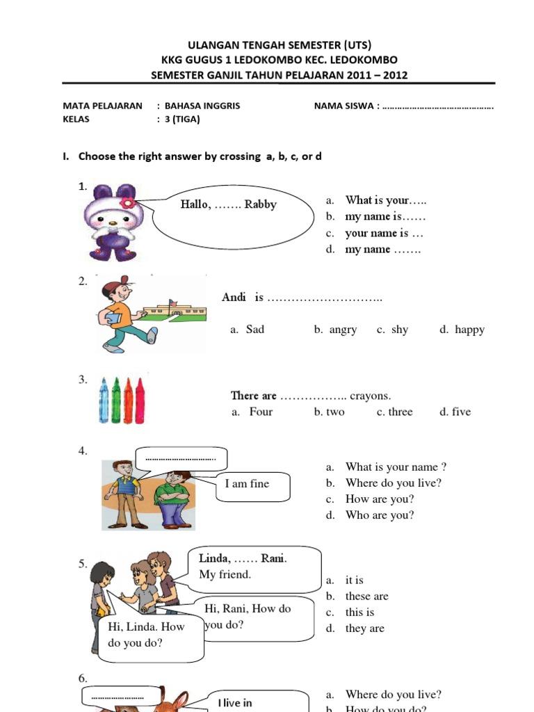 Soal Uts Bahasa Indonesia Kelas 4 Sd Semester 2 Pdf  palmseven
