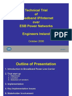 ESB Report on PLC Trial