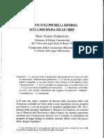 Sabino Fortunato Recenti Sviluppi sulla Riforma Della Disciplina Delle Crisi Aziendali
