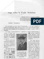 Algo sobre la copla andaluza por Antonio Arévalo García
