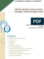 Paradontita Apicala Cronica Si Acuta , Etiologie,