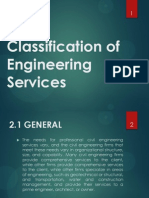 Classification of Engineering Services