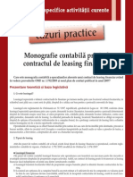 Monografie Contabila Privind Contractul de Leasing Financiar