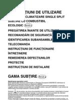 Aer Conditionat Whirlpool AMD 001 - User & Install Manual - RO