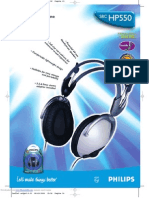 Philips SBC HP550 Headphones - Leaflet Manual