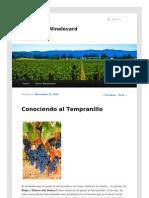 Variedad de uva Tempranillo