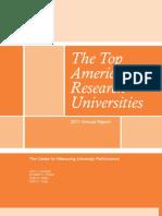 أخر تحديث لأفضل الجامعات البحثية في أمريكا - 2011
