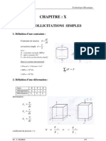 CHAPITRE 8 - Sollicitations Simples