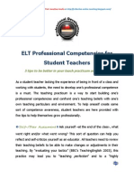 ELT Professional Competencies for Student Teachers