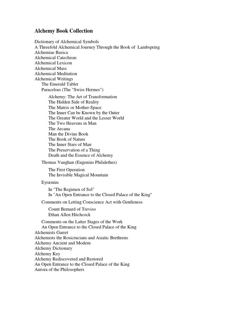 Alchemy Books Collection Alchemy Hermeticism