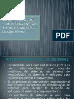 METAMETODOLOGÍA DE INTERVENCIÓN TOTAL DE SISTEMA