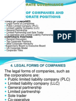 Types of Companies and Corporate Positions
