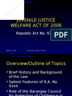 Juvenile Justice Welfare Act of 2006