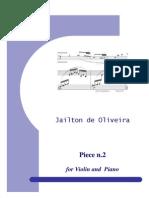 Piece No.2 for Violin and Piano - Full Score
