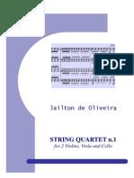 String Quartet No.1 - Full Score