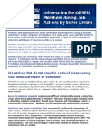 Information for Local 330 Members during Job Action by Sister Unions