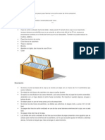 A continuación se sugieren unos pasos para fabricar una cocina solar de forma artesanal