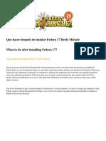 Que hacer después de instalar Fedora 17 Beefy Miracle v.2