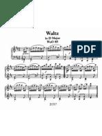 Waltz in D, WoO 85