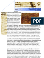 Proyecto Guadalupe.com. El códice 1548 o Códice Escalada, crítica