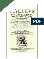 Malleus Maleficarum (Martillo de las Brujas)