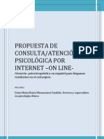 Propuesta de consulta de psicólogo on line/internet para trabajadores y familia de españoles en el extranjero