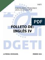 FOLLETO DE INGLÉS IV 2012