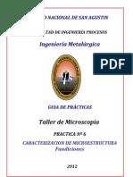 GUIA DE PRACTICAS   Nº 6  Fundiciones