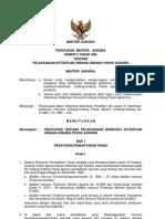 Permen Agraria No. 2 Tahun 1960 Tentang Pelaksanaan Ketentuan Undang-Undang Pokok-Pokok Agraria