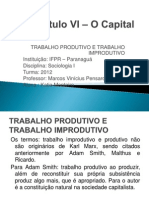 Capítulo VI – O Capital - Seminário -  Katia
