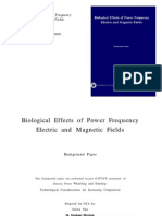 Bio Effects Power Frequency Electric Magnetic Fields