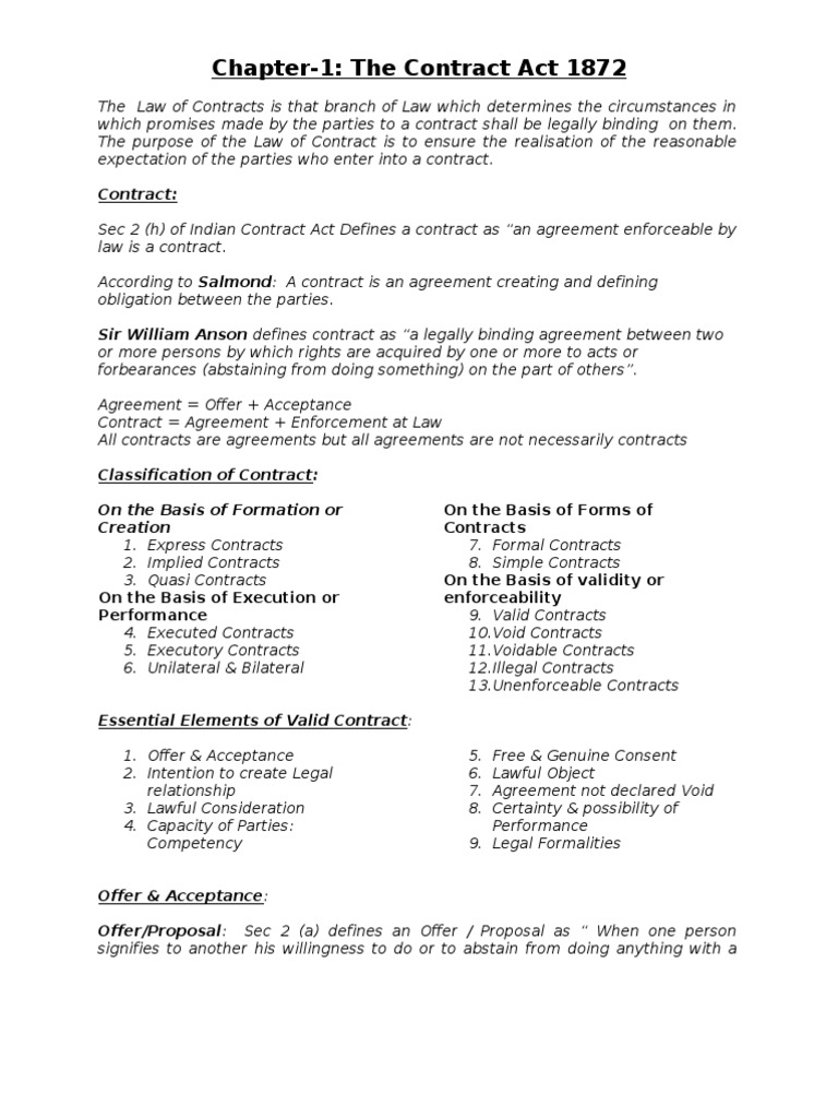 Contract act offer and acceptance civil law legal system platinumwayz