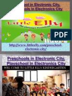 Preschool in Electronic City, Playschools in Electronics - Littleelly