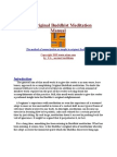 Original Buddhist Meditation