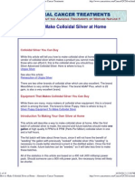 How to Make Colloidal Silver at Home - Alternative Cancer Treatments