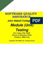 Qa 05 Module Testing