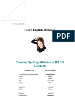 IELTS Common Mistakes