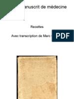 Manuscrit Medecine
