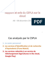 20121208-Cloud-France-Analyse des cas analysés par le CSPLA