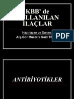 Kbb'de kullanılan ilaclar