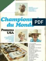 Championnat du monde piste 1/8ème thermique Pomona 1977