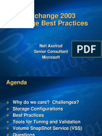 Storage Best practices