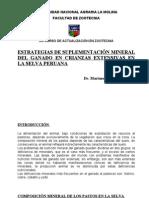 Suplementacion Mineral en Crianzas Extensivas
